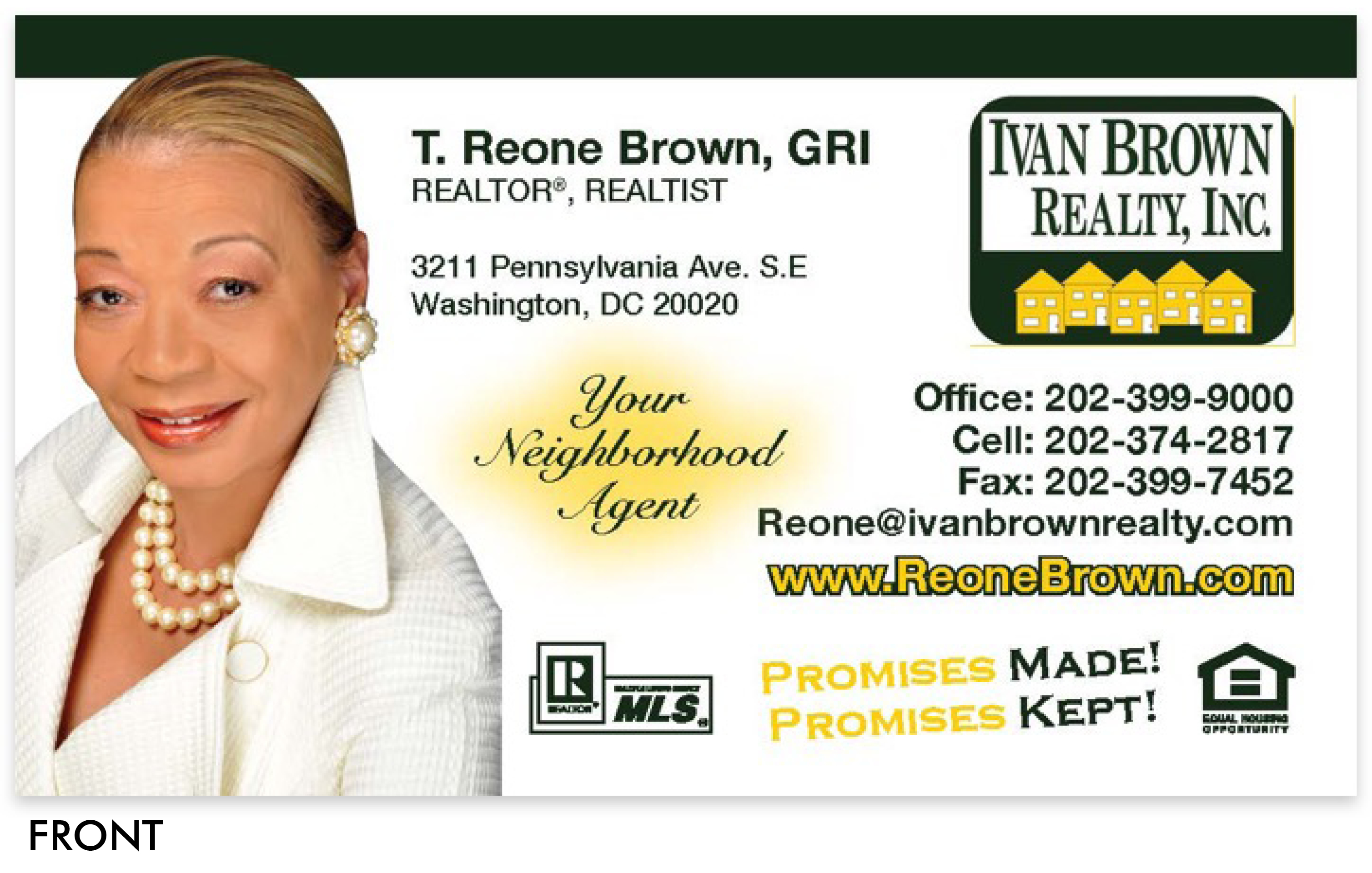 Reone Brown Business Card