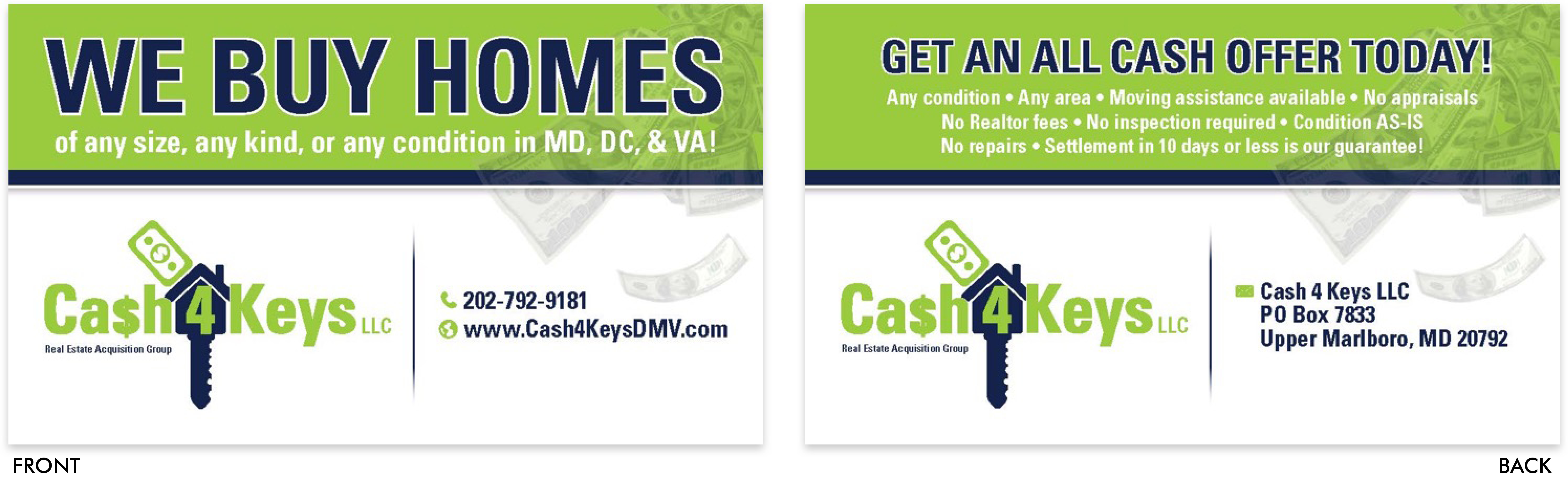 Cash 4 Keys Business Card