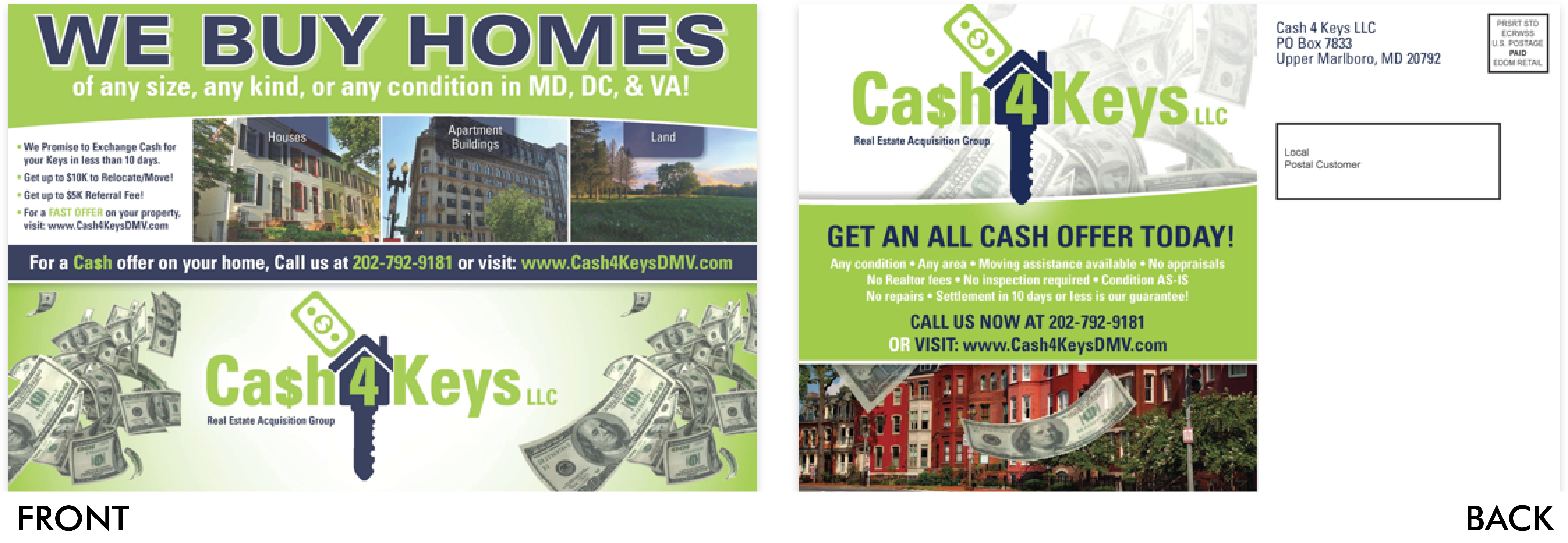 Cash4Keys Postcard