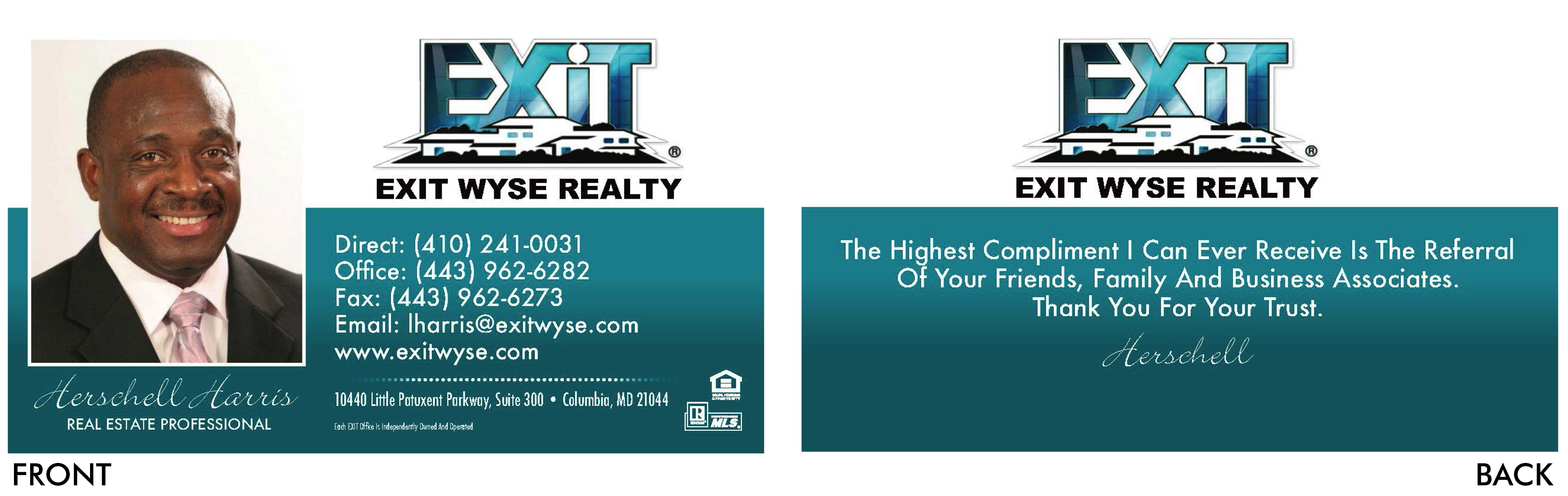 Exit Wyse Business Card
