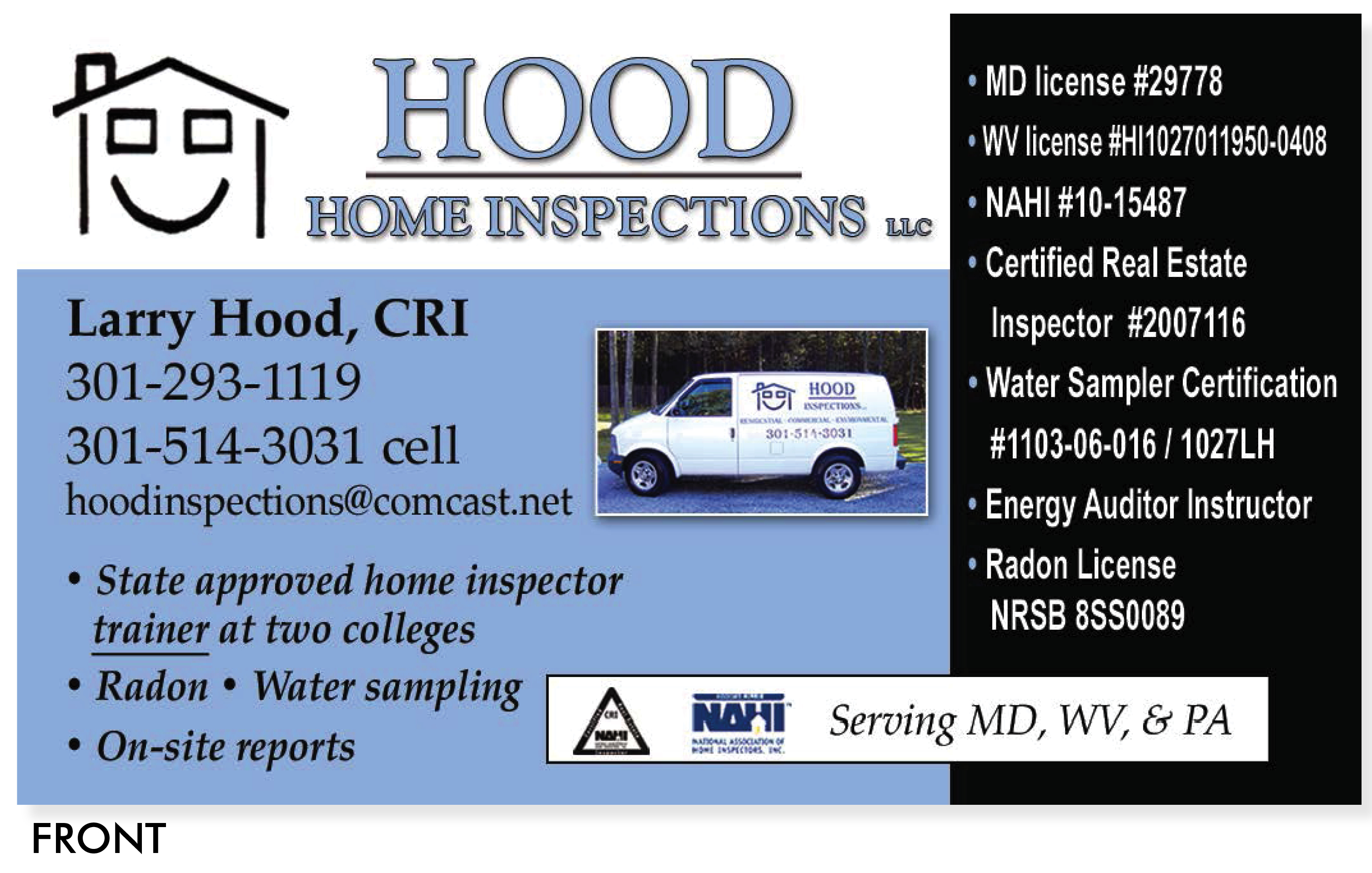 Hood Business Card