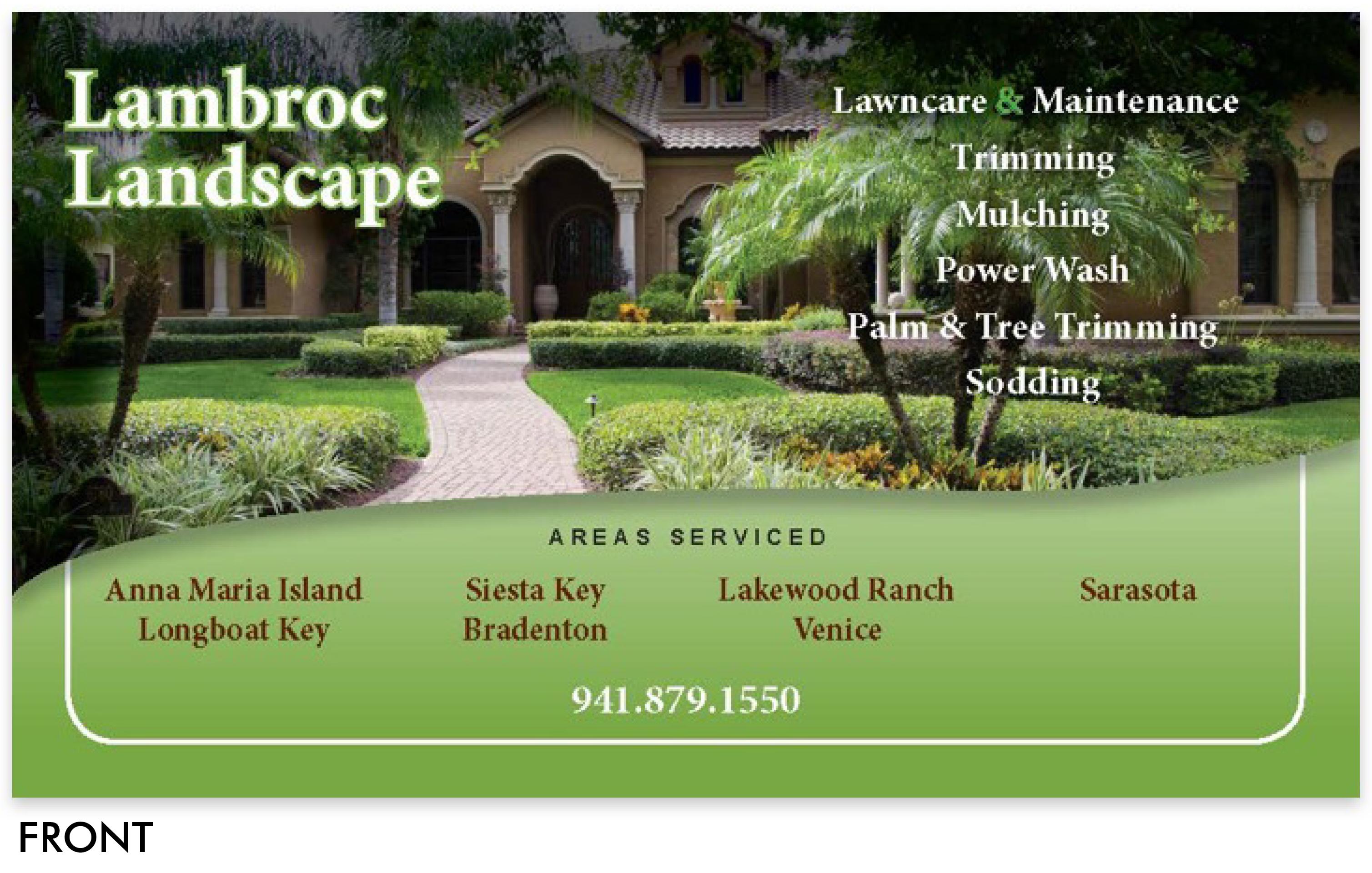 Lambroc Landscaping Business Card