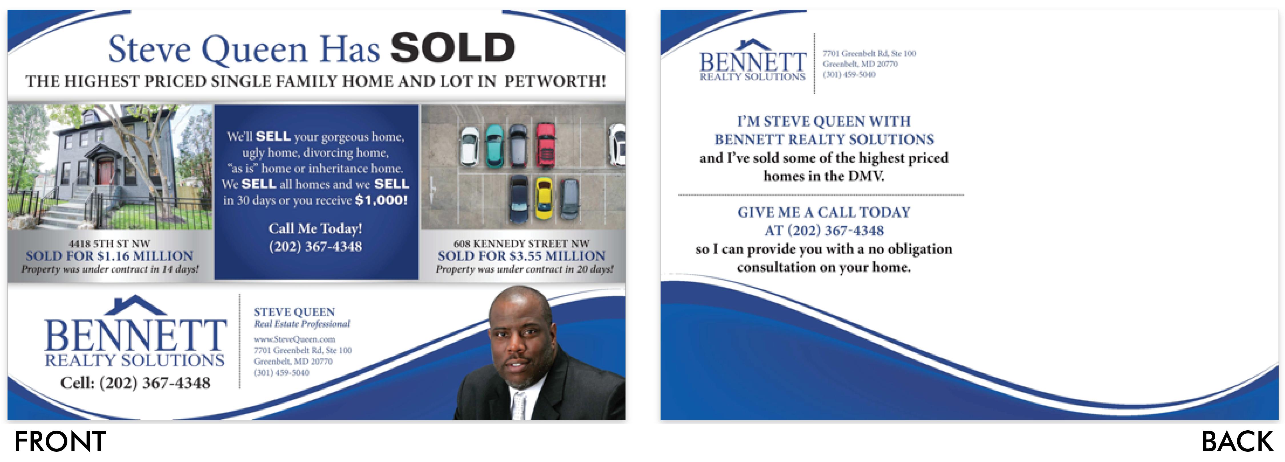 Bennett Steve Queen Postcard